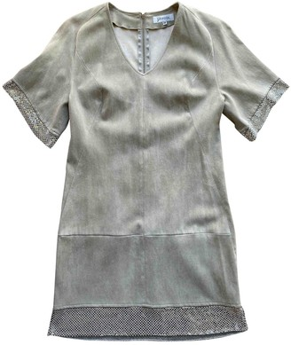 Jitrois Grey Suede Dresses