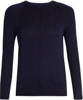 Frame Round-neck silk and cashmere-blend sweater
