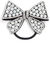 Tasha Imitation Pearl Bow Ponytail Holder