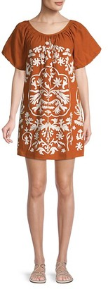 Free People Fiona Embroidered Mini Dress