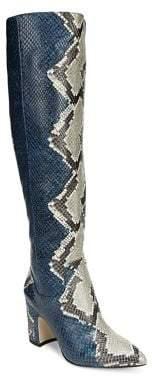 Sam Edelman Hai Snakeskin Knee-High Boots