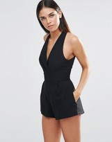 Love Pleated Halterneck Romper