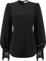 Chloé laser cut bell sleeved blouse