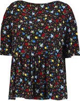 Love Moschino Floral-print faille top