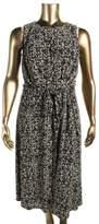 Lauren Ralph Lauren Womens Plus Printed Sleeveless Casual Dress