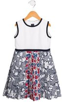 Oscar de la Renta Girls' A-Line Printed Dress