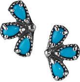 American West Sleeping Beauty Turquoise EarClimber Earrings