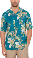 Cubavera Short Sleeve Floral Button-Front Shirt