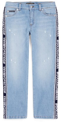 Dolce & Gabbana Kids Straight Embroidered Jeans (8-12 Years)