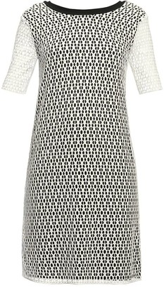 Rumour London Donna Lace Overlay Dress Sheer Sleeves