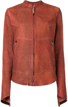 Isaac Sellam Experience Rear Zip Detail Leather Jacket