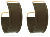 Jacquemus Les Fauteulis Leather Hoop Earrings - Womens - Green