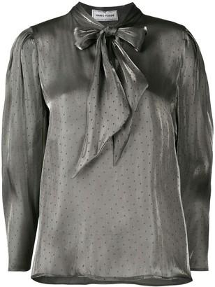 Three floor Stella metallic blouse