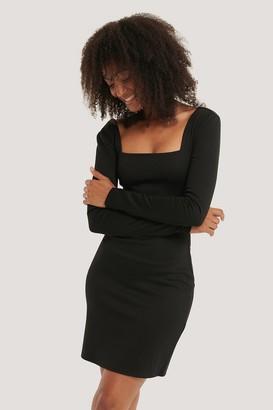 NA-KD Bodycon Square Neck Dress