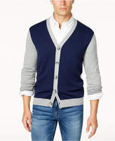 Club Room Men's Colorblocked Cardigan, Created for Macy's