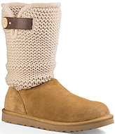 UGG Shaina Knit Top Leather Strap Boots