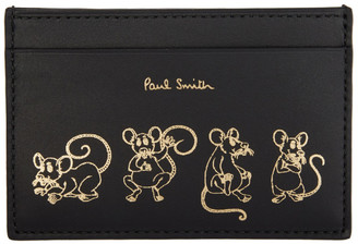 Paul Smith Black Year of the Rat Card Holder