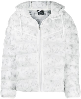 Nike Marbled-Print Quilted Jacket