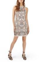 Topshop Patchwork Embellished Minidress
