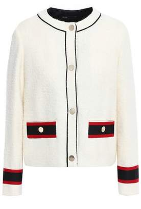 Maje Grosgrain-trimmed Boucle Jacket