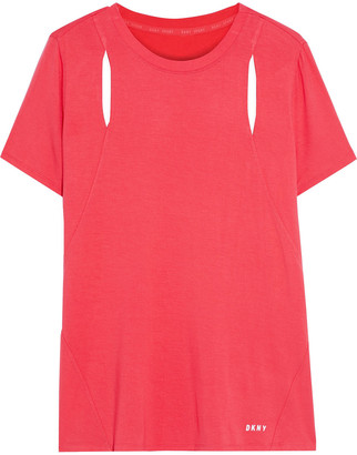 DKNY Cutout Stretch-jersey T-shirt