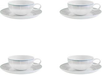 Vista Alegre Orquestra Tea Cups & Saucers, Set of 4