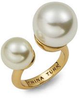 Trina Turk Faux Pearl-Accented Cuff Ring
