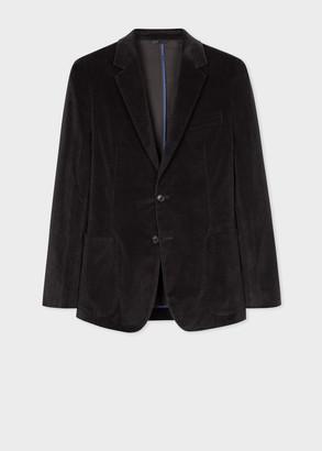 Paul Smith Men's Smoke Grey Corduroy Unlined Blazer