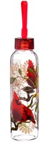 Cardinals 18 oz. Double Sided Decal Glass Water Bottle