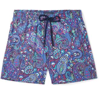 Etro Mid-Length Paisley-Print Swim Shorts