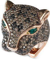 EFFY Signature 14k Rose Gold Multistone Panther Ring (3-9/10 ct. t.w.)