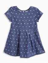 Splendid Little Girl Dotted Denim Dress