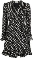 Essentiel Antwerp polka dot wrap mini dress