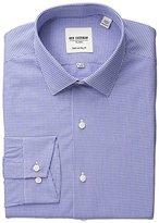 Ben Sherman Men's Gingham Shirt with Spread Collar - Blue