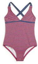 Splendid Little Girl's Malibu Striped One-Piece Swimsuit