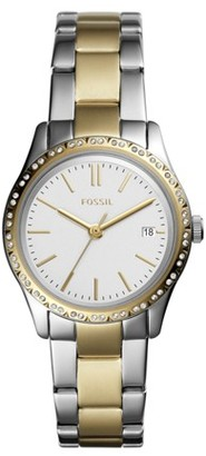 Fossil Adalyn Three-Hand Two-Tone Stainless Steel Watch Jewelry