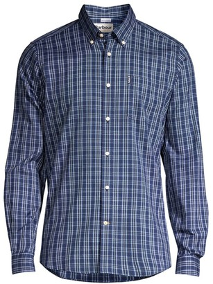 Barbour Button-Front Checkered Shirt