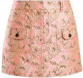 Prada Floral-brocade mini skirt