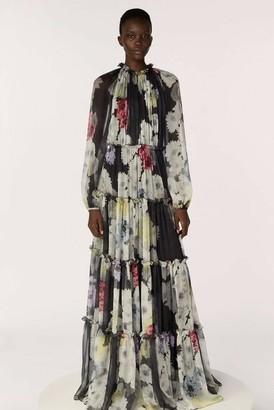 Jason Wu Collection Printed Crinkle Chiffon Dress
