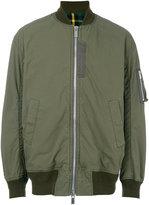 Sacai contrast lining bomber jacket