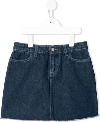 Emporio Armani Kids TEEN applique patch denim skirt