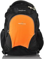 Obersee Oslo Diaper Bag Backpack with Detachable Cooler in Black/Orange