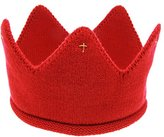 Leewa Woolen Yarn Crown Knit Headband Hat for Cute Baby Boy/Girl (Red)