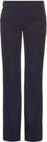 No.21 NO. 21 Tuxedo-stripe straight-leg trousers