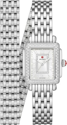 Michele Deco Madison Mini Diamond Head & Bracelet, 22mm