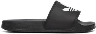 adidas Black Adilette Lite Pool Slides