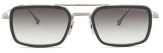 Dita Eyewear Flight Eight Rectangular Metal Sunglasses - Black