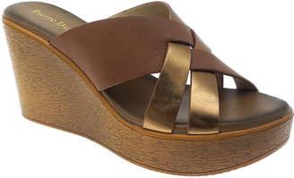 Pierre Dumas Women's Sandals tan - Tan & Gold Oprah Wedge Sandal - Women