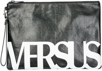 Versus Logo Printed Clutch Bag