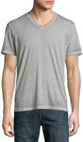 Hutch St./ Co. Short-Sleeve V-Neck Tee, Ash Gray